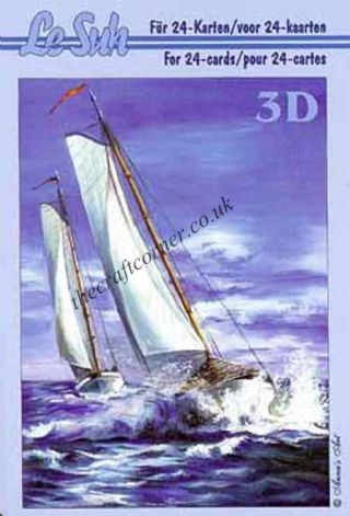 Sea Going Sailing Boats Mini 3D Decoupage Book from Le Suh